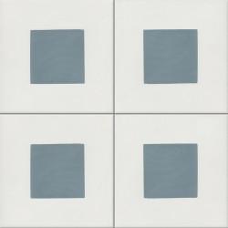Carreau de ciment coloré bleu et blanc GEO C 10.39