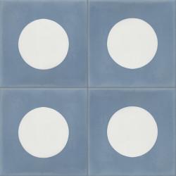 Carreau de ciment coloré bleu et blanc GEO B 15.10