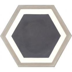 Carreau de ciment coloré Hexagone motif GALA1 01.10.36