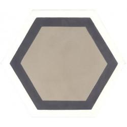 Carreau de ciment coloré Hexagone motif GALA2 01.10.36