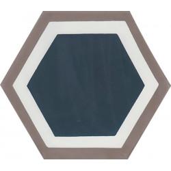 Carreau de ciment coloré Hexagone motif GALA 10.27.30