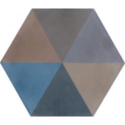 Carreau de ciment coloré Hexagone motif DYLAN 33.36.30.20.28.32