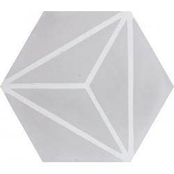 Carreau de ciment coloré Hexagone motif OZU 07.10
