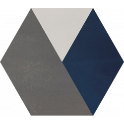 Carreau de ciment coloré Hexagone motif BOB 32.10.30