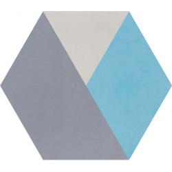 Carreau de ciment coloré Hexagone motif BOB 33.10.15