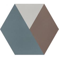 Carreau de ciment coloré Hexagone motif BOB 40.07.28