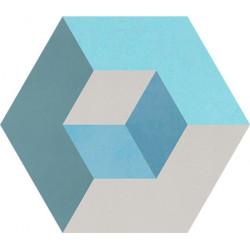 Carreau de ciment coloré Hexagone motif CADIX 39.07.06.15.20