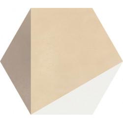 Carreau de ciment coloré Hexagone motif CLOVIS B 10.37.36