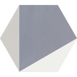 Carreau de ciment coloré Hexagone motif CLOVIS B 33.10.07