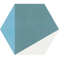 Carreau de ciment coloré Hexagone motif CLOVIS B 10.39.15