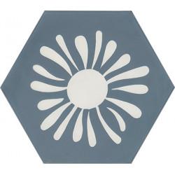 Carreau de ciment coloré Hexagone motif TESS 33.10