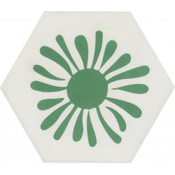 Carreau de ciment coloré Hexagone motif TESS 10.18