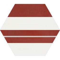 Carreau de ciment coloré Hexagone motif SAXO 11.10.07