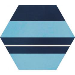 Carreau de ciment coloré Hexagone motif SAXO 30.15.10