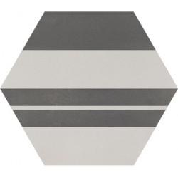 Carreau de ciment coloré Hexagone motif SAXO 32.07