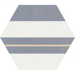 Carreau de ciment coloré Hexagone motif SAXO 33.10.37