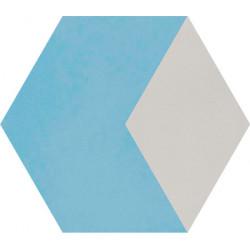 Carreau de ciment coloré Hexagone motif THEO B 15.07