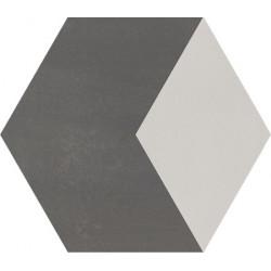 Carreau de ciment coloré Hexagone motif THÉO B 32.07