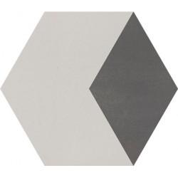 Carreau de ciment coloré Hexagone motif THEO B 07.32