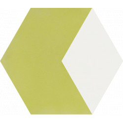 Carreau de ciment coloré Hexagone motif THÉO B 21.10
