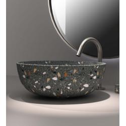 Lavabo, vasque Terrazzo Gris diam. 40cm ronde