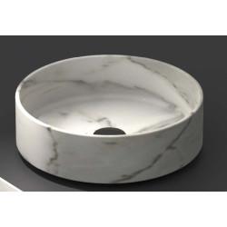 Lavabo, vasque Calacatta Bianco diam. 35,5cm ronde