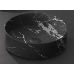Lavabo, vasque Calacatta Nero diam. 35,5cm ronde