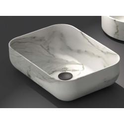 Lavabo, vasque Calacatta Bianco 46x32,5cm