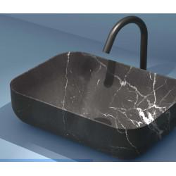 Lavabo, vasque Calacatta Nero 46x32,5cm