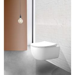 WC suspendu Rondo 54.5x36.5cm avec abattant à ralentisseur