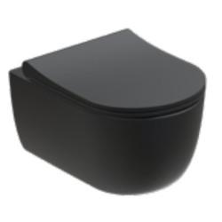 WC suspendu Rondo Compact 49x36.5cm avec abattant à ralentisseur