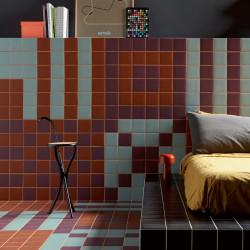 Grès cérame effet graphique Pixel41 (41 couleurs, 1 format)