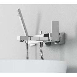 Robinet mitigeur inverseur baignoire 1601110 mural (non encastré) avec écoulement bain et sortie douchette, série160