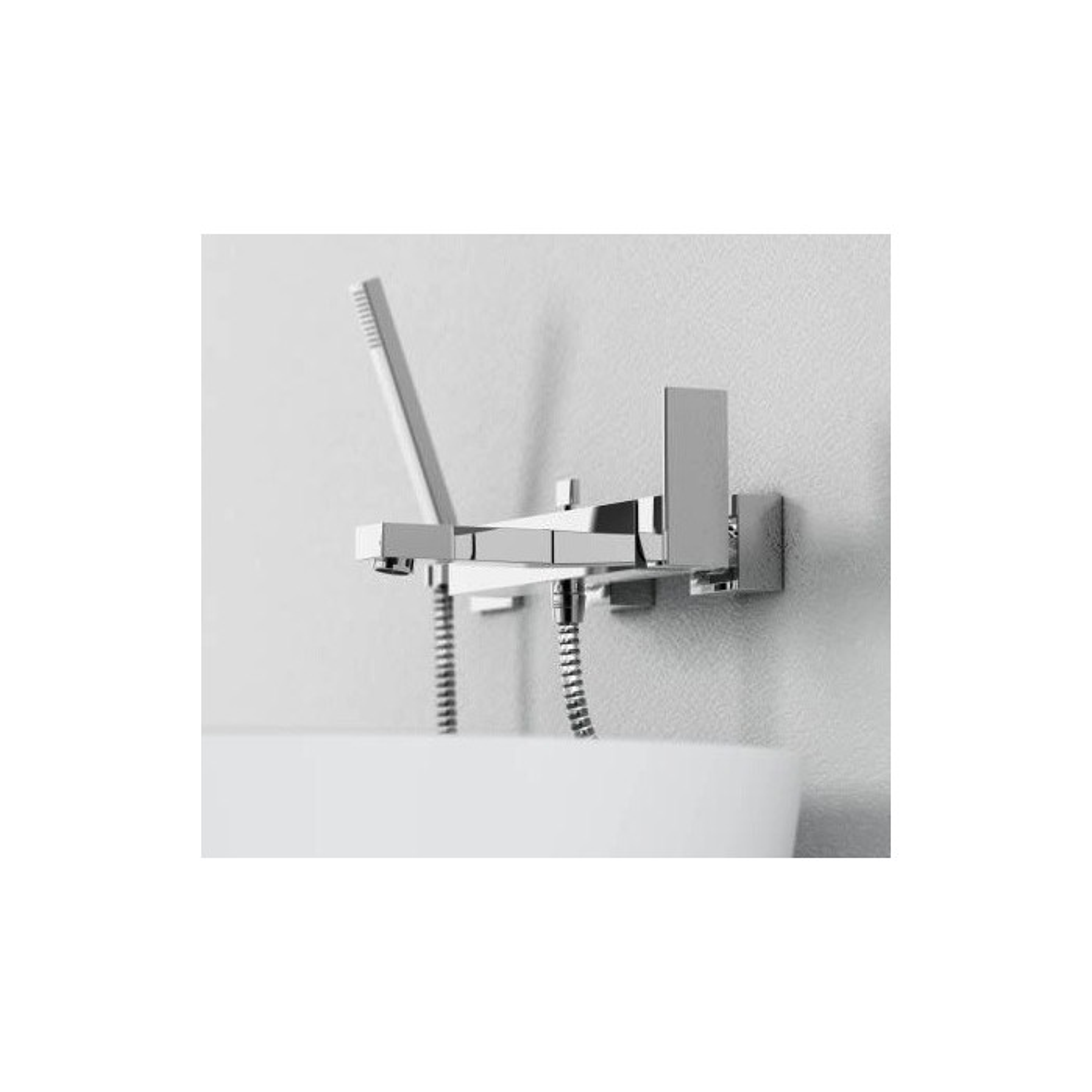 Robinetterie mitigeur baignoire avec écoulement bain, inverseur et sortie douchette , 1601110