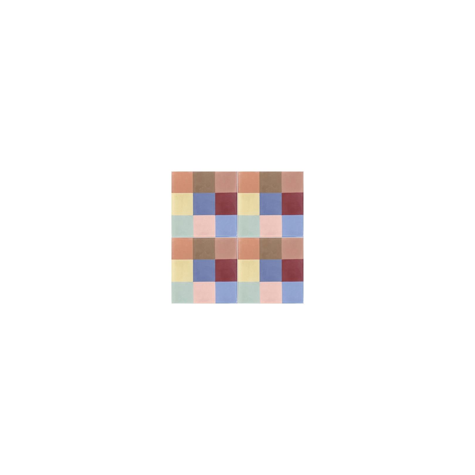 Ciment coloré motif A08