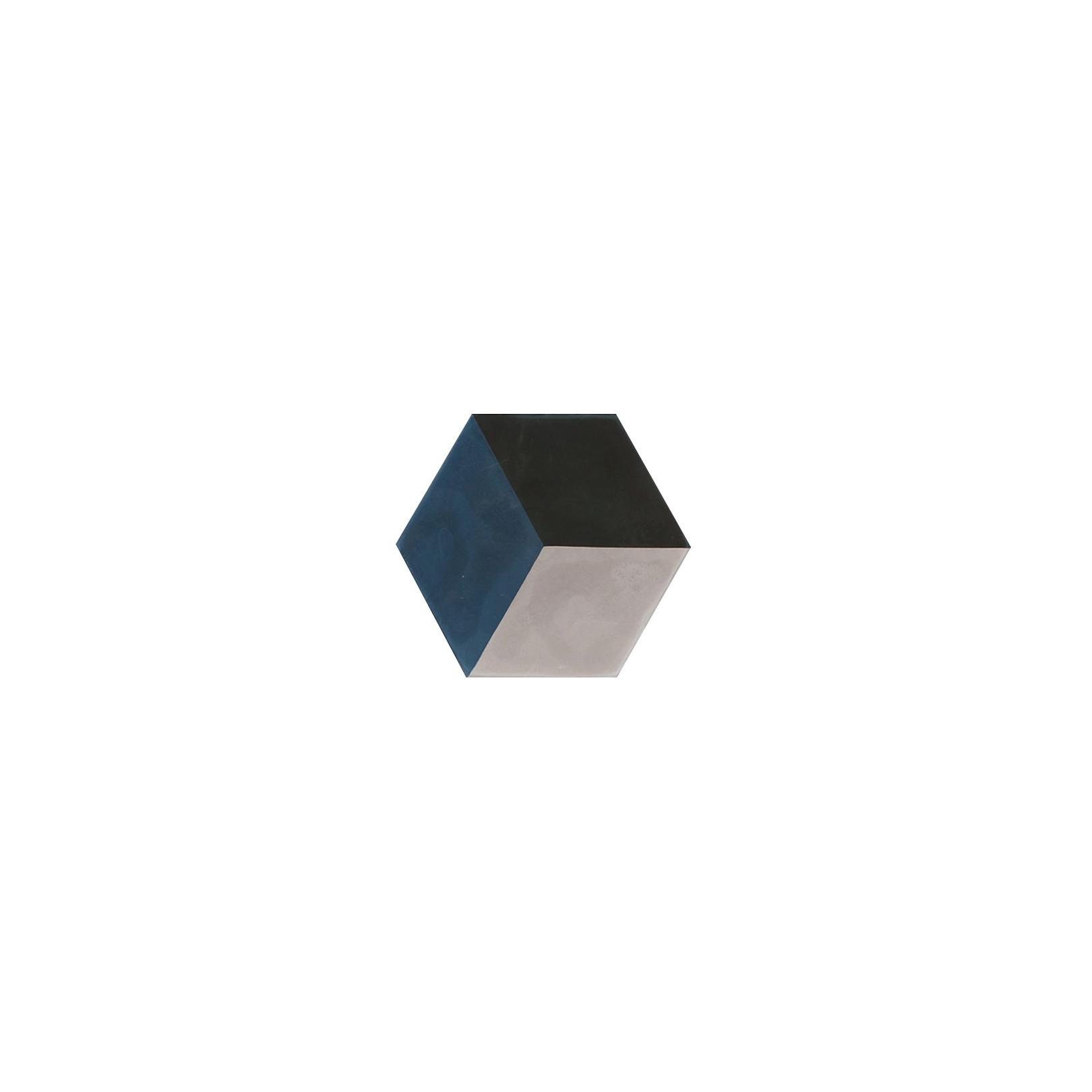 Carreau de ciment coloré Hexagone motif cube 3D HU30.01.27
