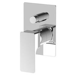 Commande mitigeur douche Glitter, encastré avec inverseur intégré