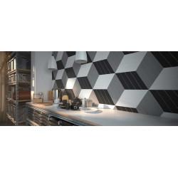 Carrelage mural faïence Chevron 23x5cm ( 5 couleurs)