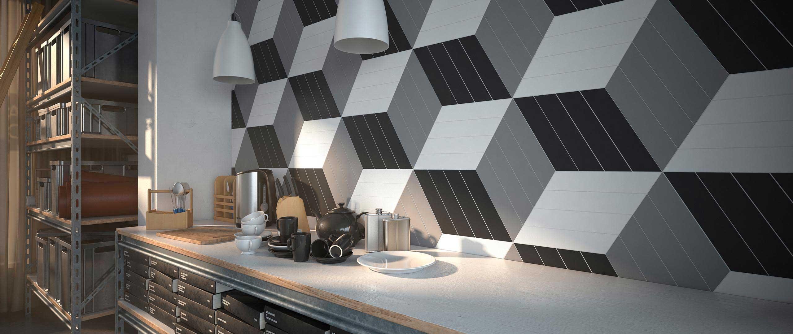 Carrelage Mural Faience Chevron 23x5cm 5 Couleurs Casalux Home