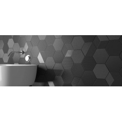 Carrelage mural faïence Mini Hexa Canale 17,3x15cm ( 5 couleurs), Sublab