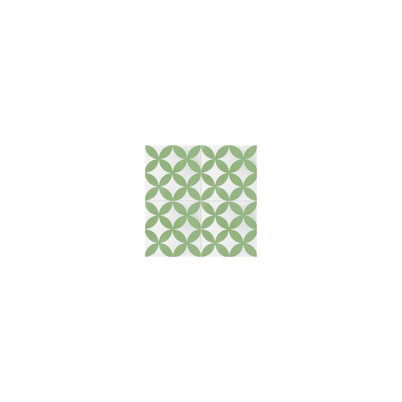 Carreau de ciment color motif vert et blanc c31 - Motif carreau de ciment ...