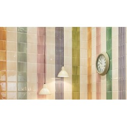 Carrelage mural faience Lucciola Stripe brillant 20x20cm (3 couleurs)