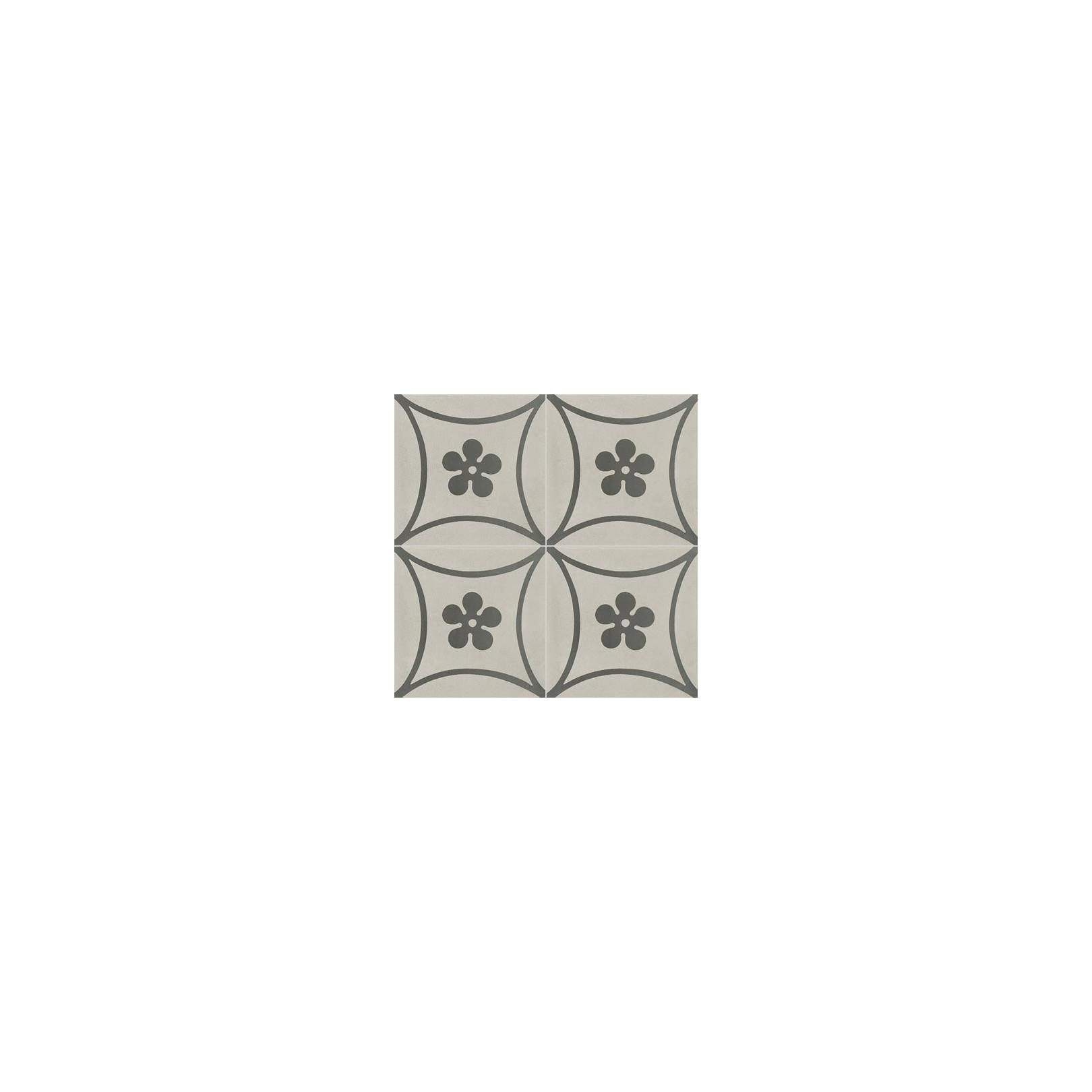 Carreau de ciment color motif gris clair et gris fonc co for Cuisine gris clair et gris fonce
