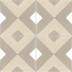 4 Carreaux de ciment coloré motif beige, marron et blanc NC5 36.37.10
