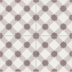 4 Carreaux de ciment coloré motif beige, marron et blanc OURSE 10.27.07