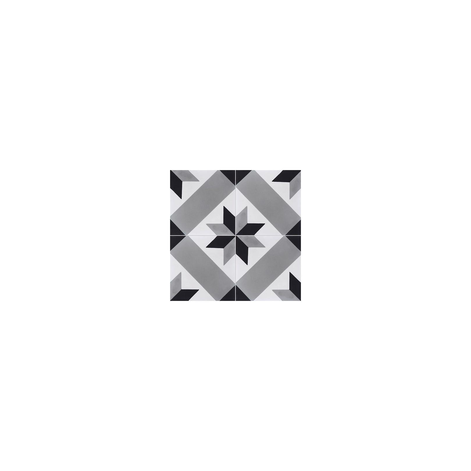 Carreau de ciment color motif gris noir et blanc t41 07 - Carreau de ciment noir et blanc ...