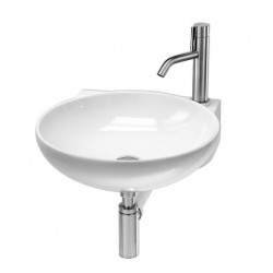 Lavabo, vasque Thin Tondo CR L274 (2 couleurs) rond suspendu 46x49xh13,5cm