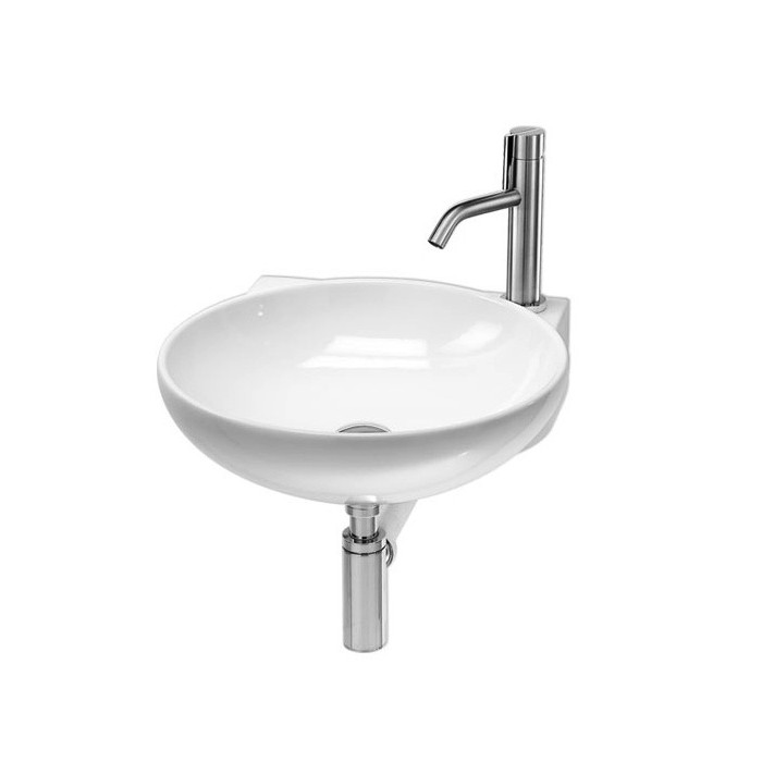 vasque a suspendre 2 Lavabo, vasque Thin Tondo L274 (2 couleurs) rond suspendu 46x49xh13,5cm