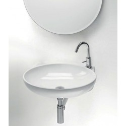 Lavabo, vasque Thin Ovale CR L276 (2 couleurs) oval suspendu 53,5x41,5xh13,5cm