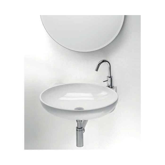 vasque a suspendre 2 Lavabo, vasque Thin Ovale CR L276 (2 couleurs) oval suspendu 53,5x41